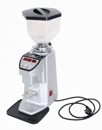 Silver  Electronic Commercial Coffee Grinder with Six angle Hopper